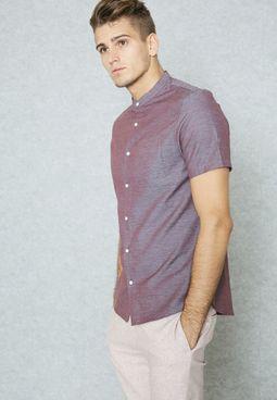 Slim Fit Nehru Collar Shirt
