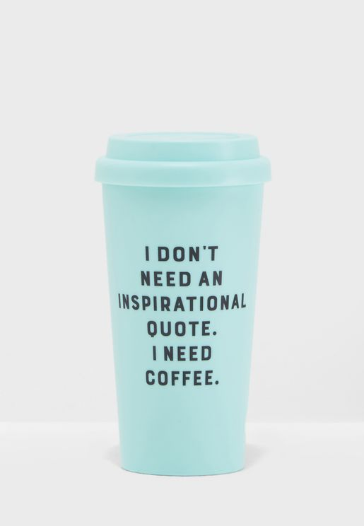 I Need Coffee Travel Mug 470ml