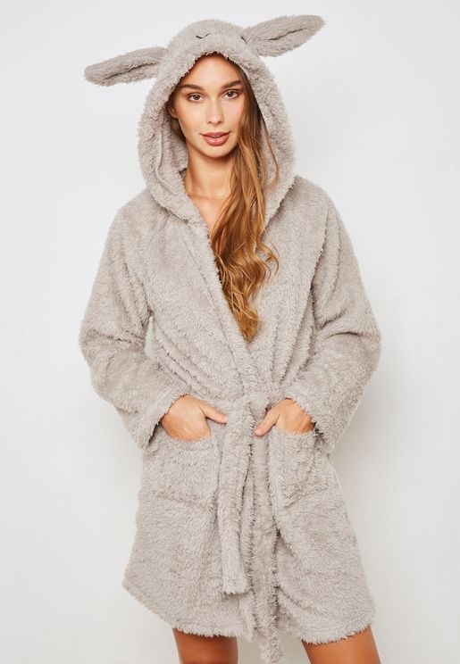 Rabbit Hooded Robe