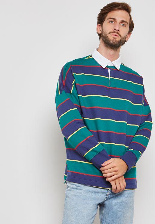 Striped Rugby Sweatshirt