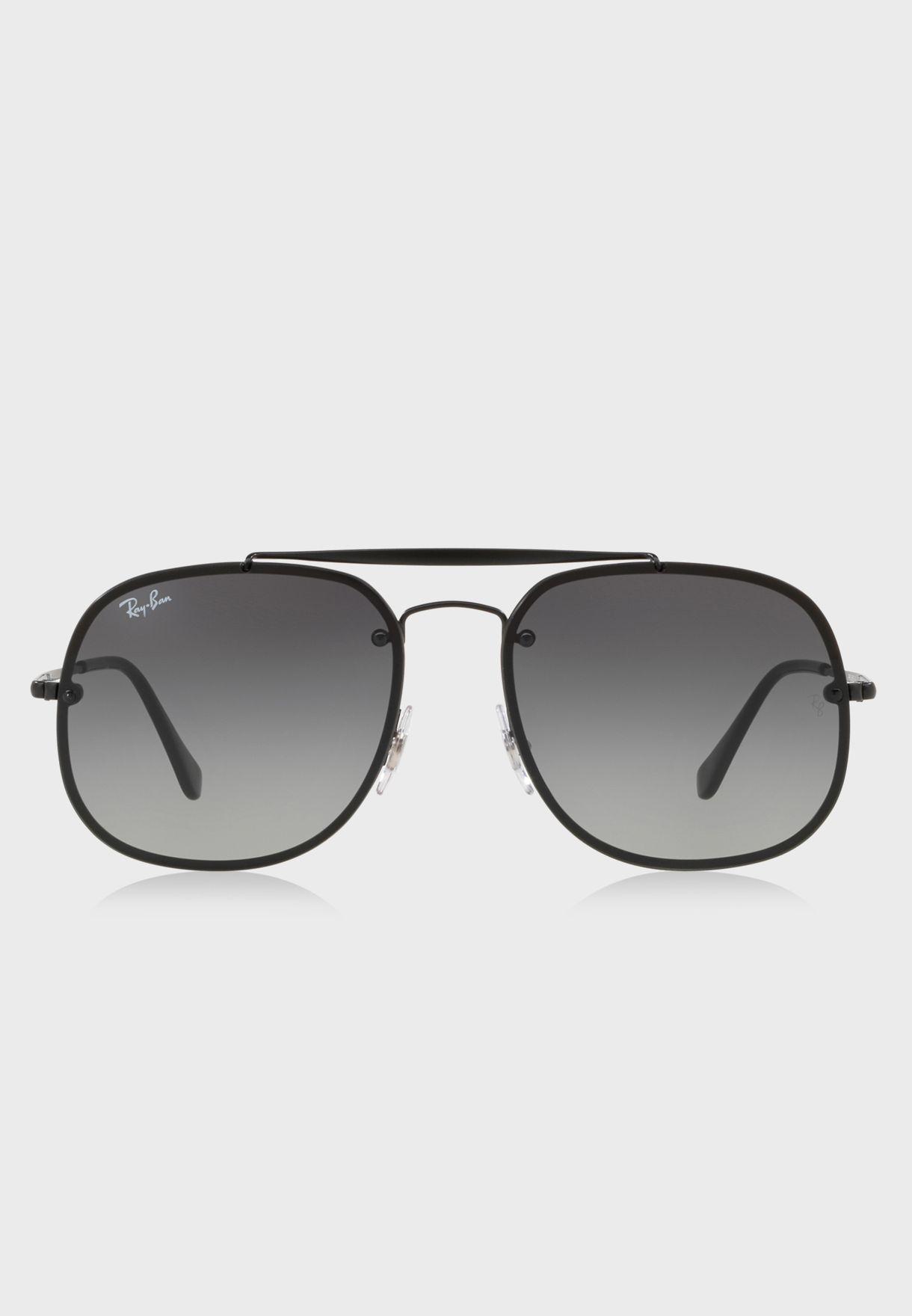 741857ddb8 Shop Ray-Ban black 0RB3583N Blaze General Sunglasses 8053672866575 ...