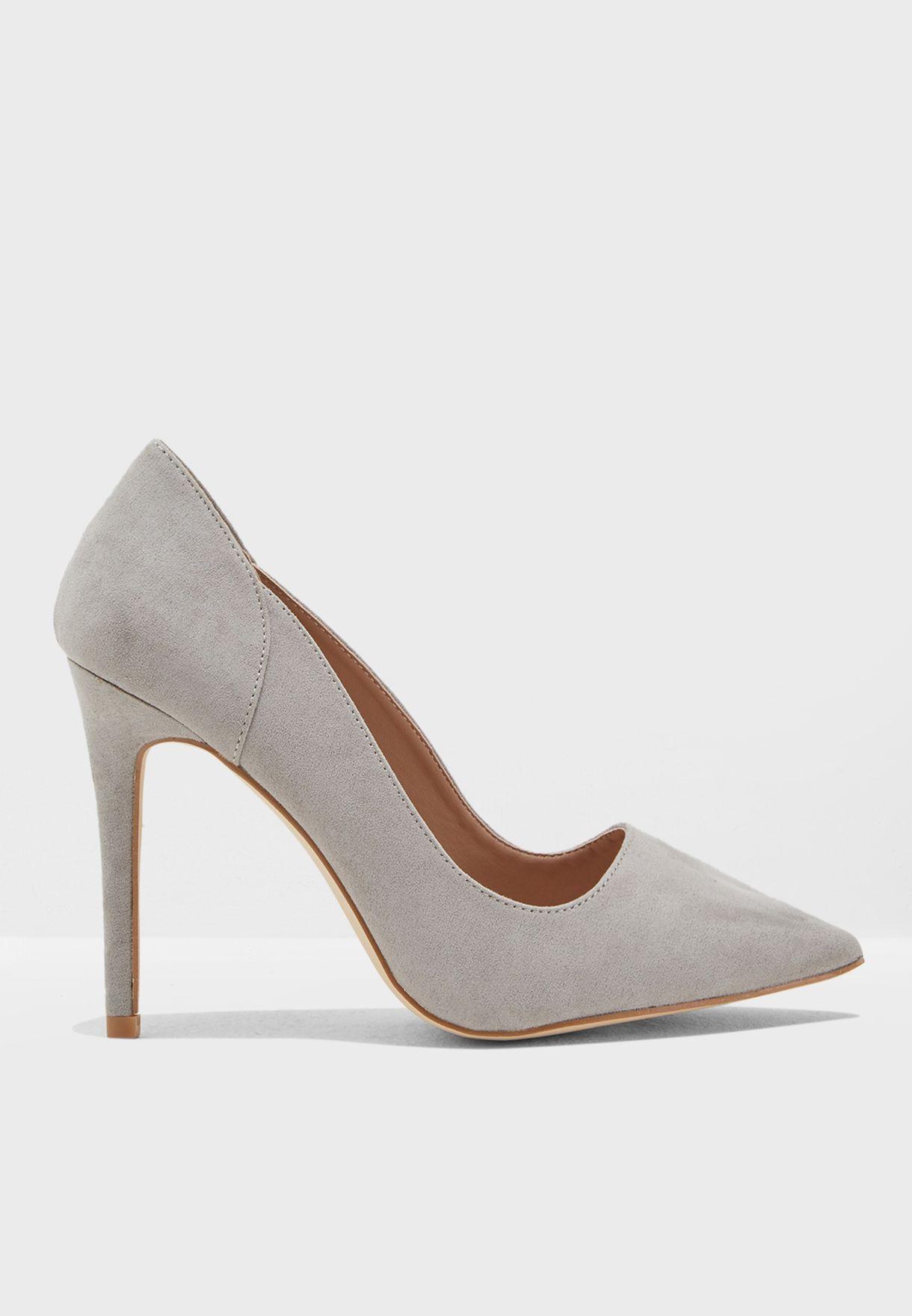 5632a5ff285f0 تسوق حذاء بكعب مرتفع ماركة نيو لوك لون رمادي 5796862 في السعودية ...
