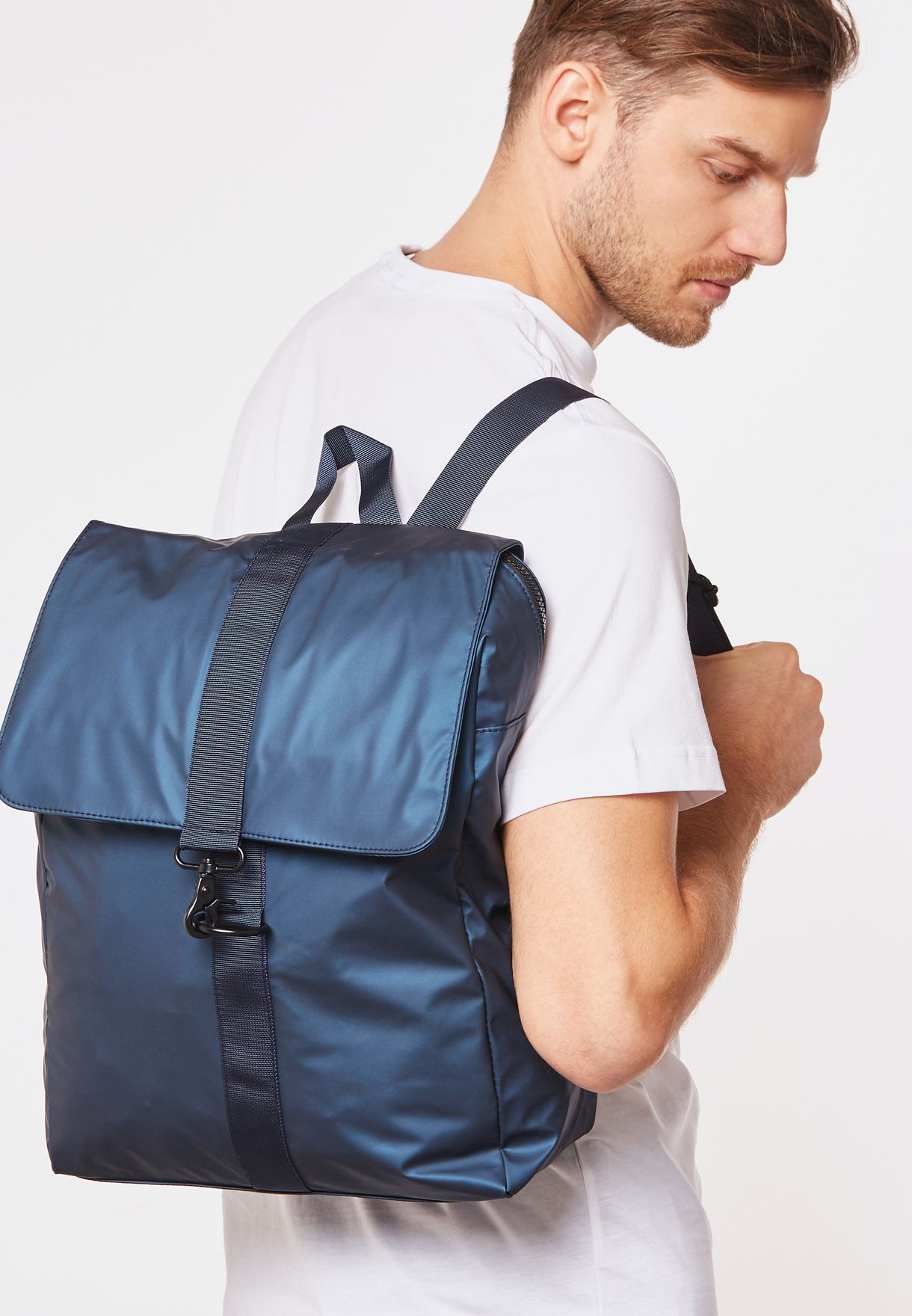 Flap Over Laptop Sleeve Backpack