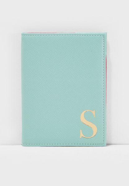 S Letter Passport Cover