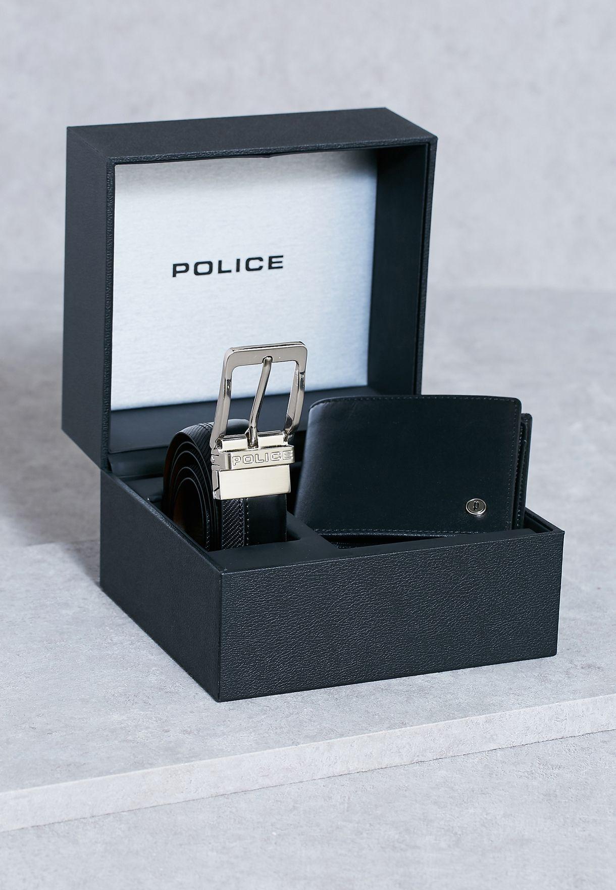bcda71867 تسوق طقم (محفظة + حزام) ماركة بوليس لون أسود PA30116SLB/97 في ...