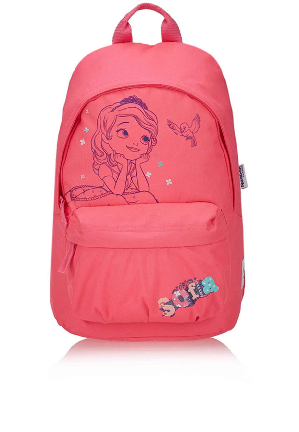 Shop Reebok pink Small Print Backpack S21342 for Kids in Saudi -  RE019AC69OOW