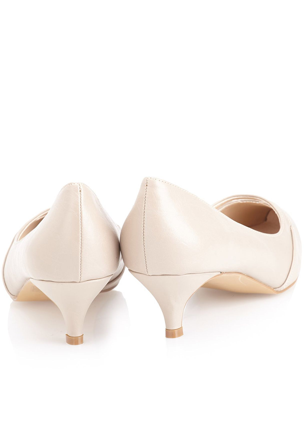 Shop Daniella Michelle Beige Zarra Pointed Toe Pumps For Women In New Kids