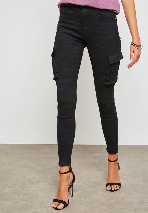Sinner High-Waisted Camo Skinny Jeans