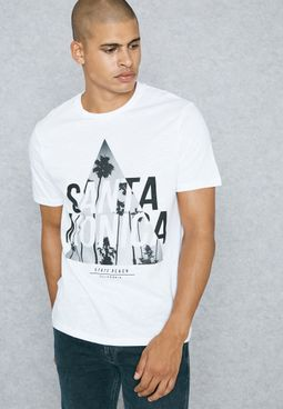 Santa Monica Triangle Print T-Shirt