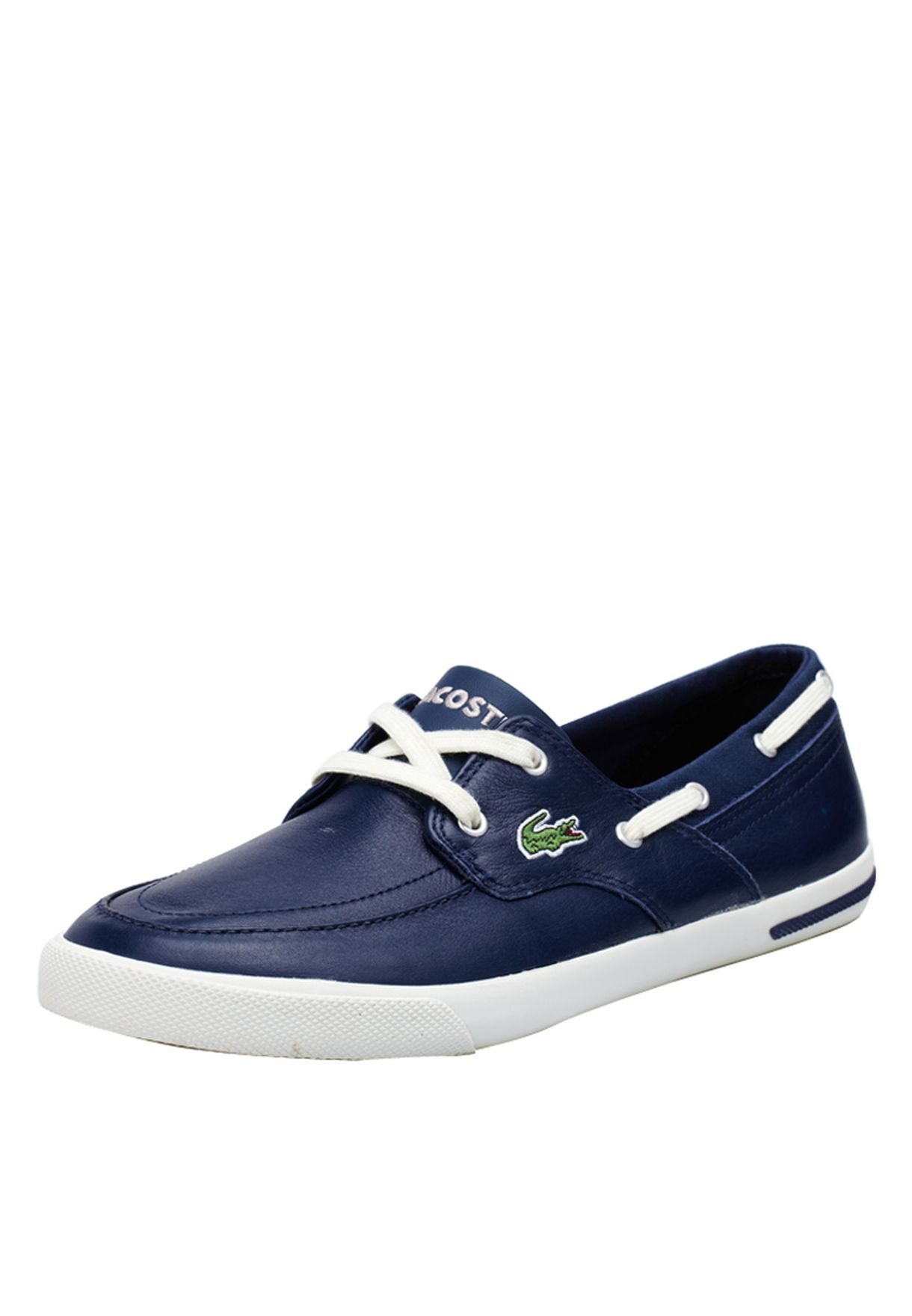 Shop Lacoste blue Newton Boat Boat Shoes 24SPM1238-1W6 for Men in Saudi -  LA014SH69RLA f77d8863ebc