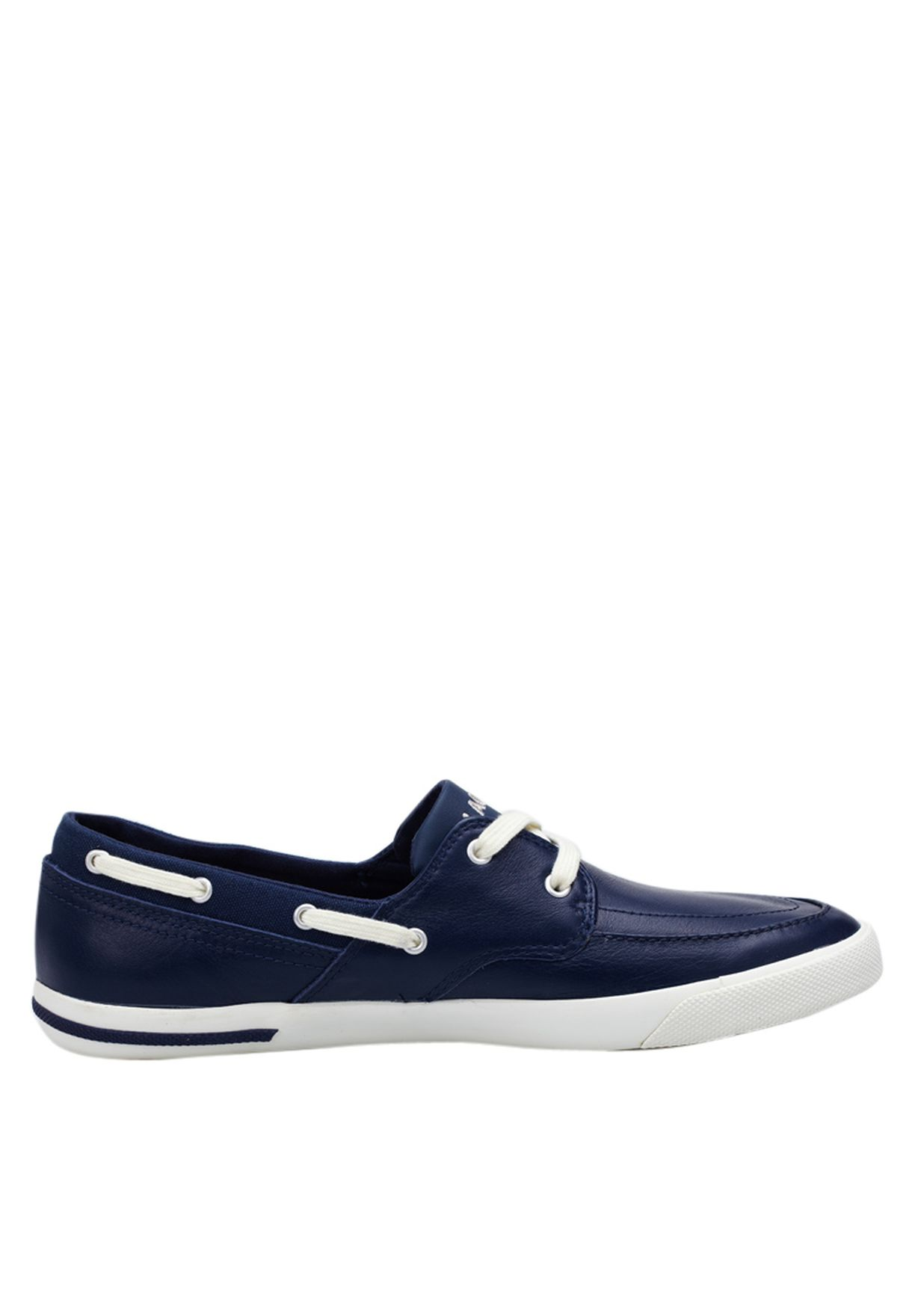 06fdd7c2ef0a Shop Lacoste blue Newton Boat Boat Shoes 24SPM1238-1W6 for Men in ...