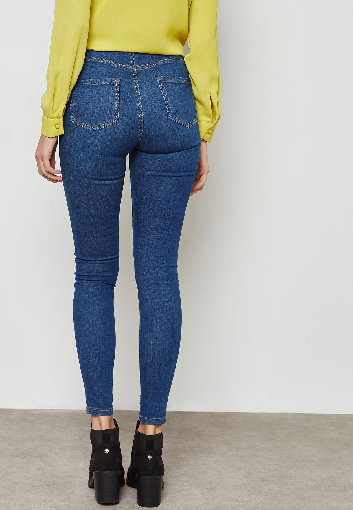 Mid Wash Skinny Jeans