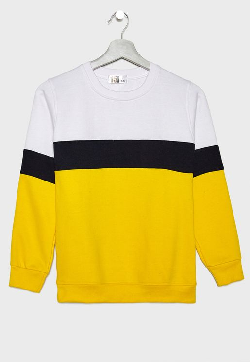 Color Block Sweatshirt f348a698219a7