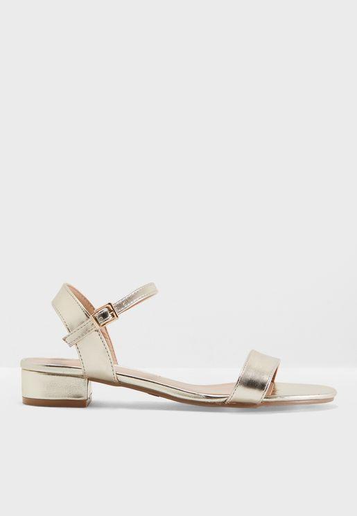 Wide Fit Spirit Block Heel Sandals