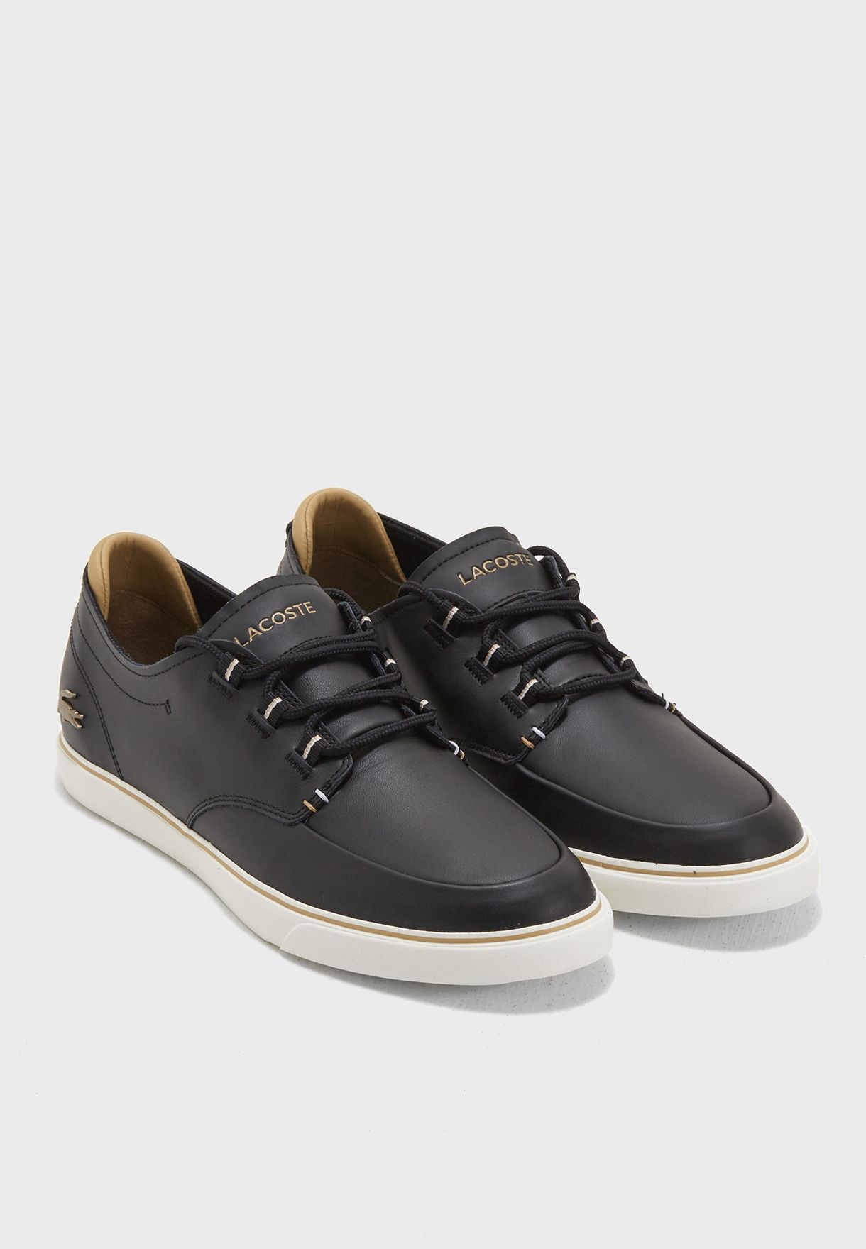 Buy Lacoste black Esparre Deck Sneakers