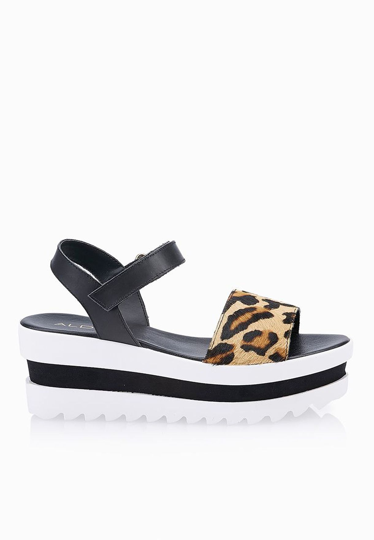 3f253a52e12f Shop Aldo multicolor Burlanda Leopard Print Sandals for Women in Qatar -  AL729SH59FFW