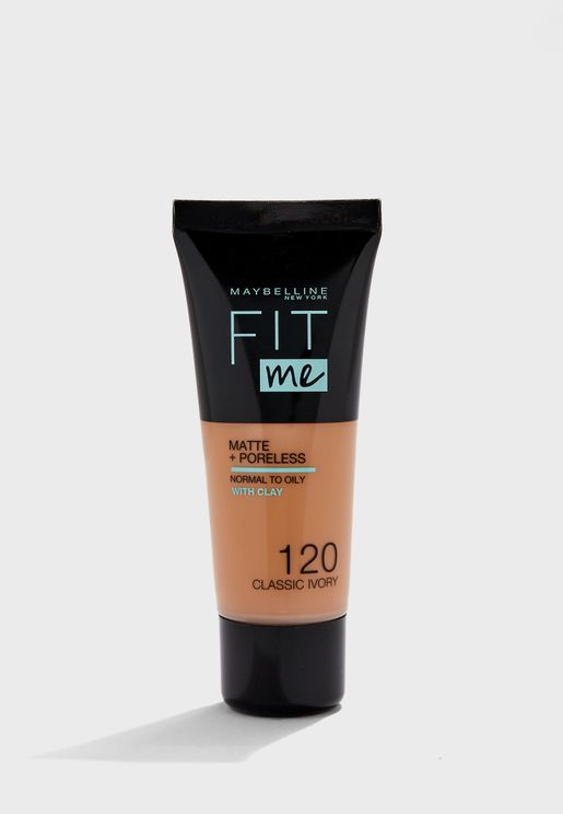 Fit Me Matte & Poreless Foundation -120 Classic Ivory