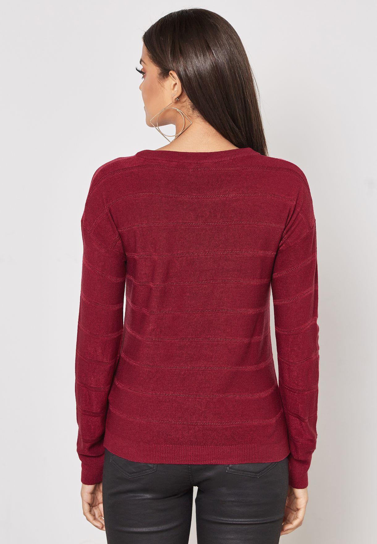 Embossed Sweater