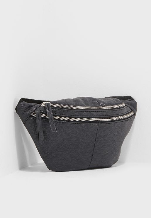 Lead Double Pocket Bum Bag