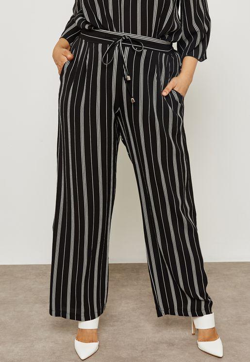 Pinstripe Drawstring Pants