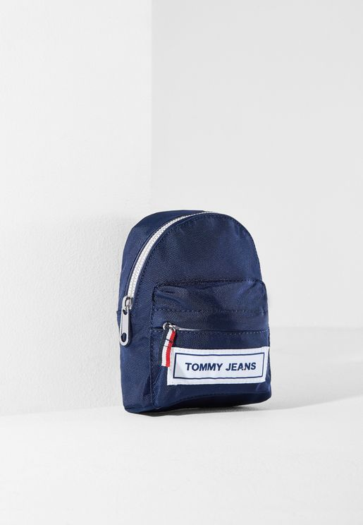 Logo Tape Hanging  Mini Backpack