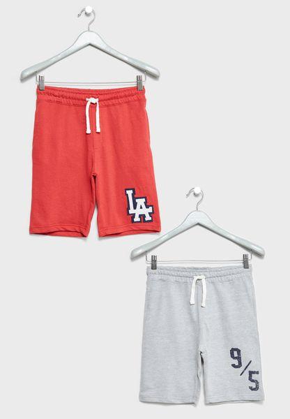 Little 2 Pack Basic Shorts