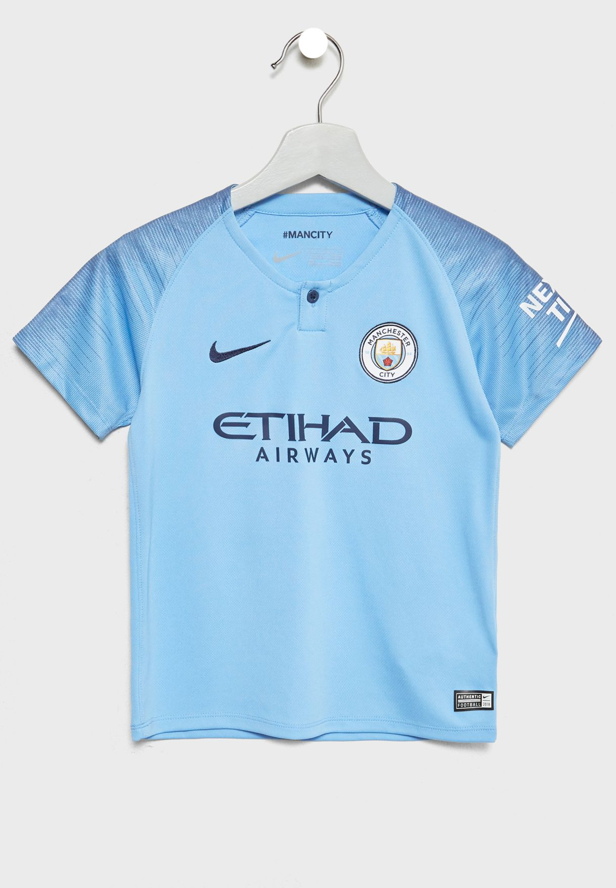 Shop Nike blue Kids Manchester City 18 19 Home Kit 894480-489 for ... 46ca08886