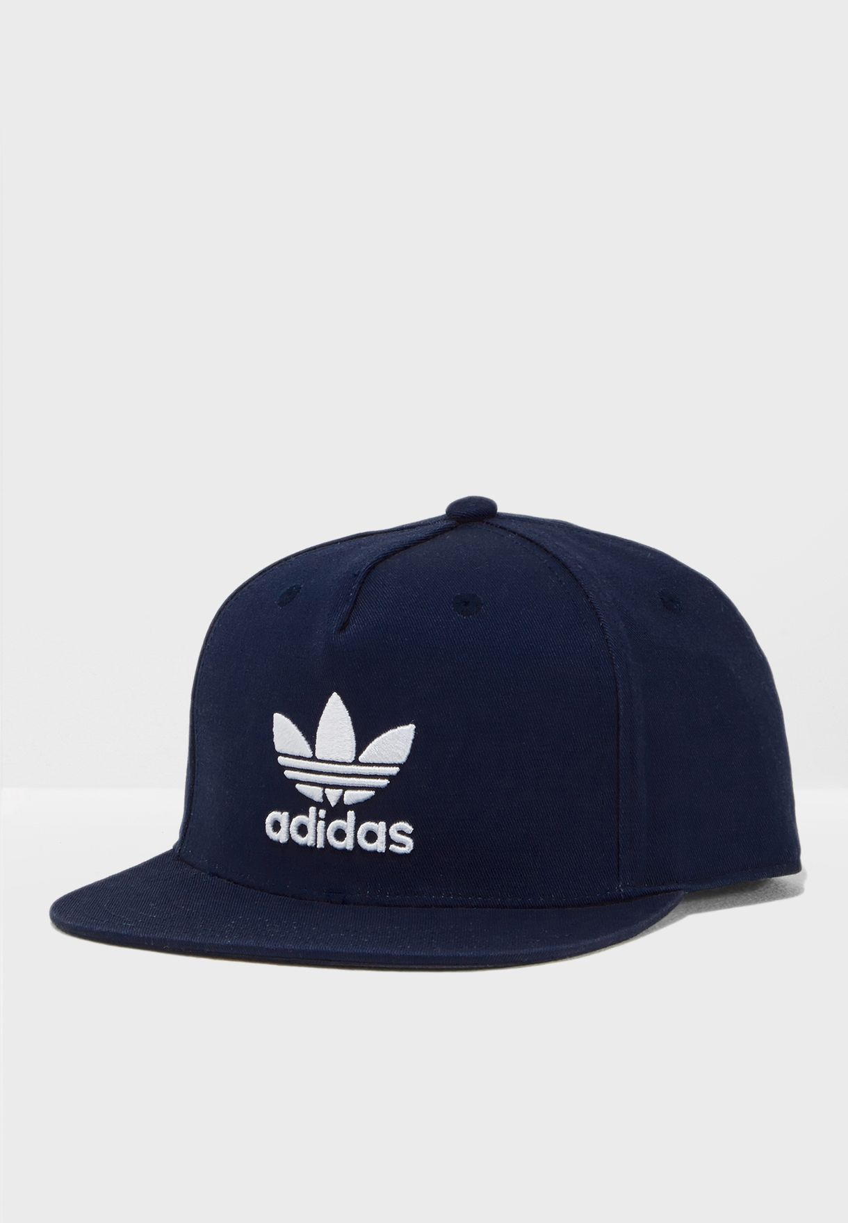 Shop adidas Originals navy Adicolor Trefoil Cap DH4282 for Men in ... ea0e6904e30
