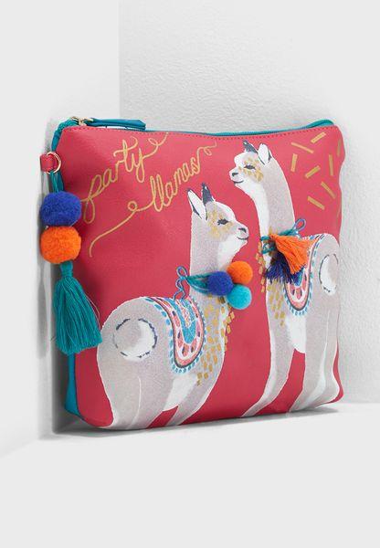 Candy Pop Llama Wash Bag
