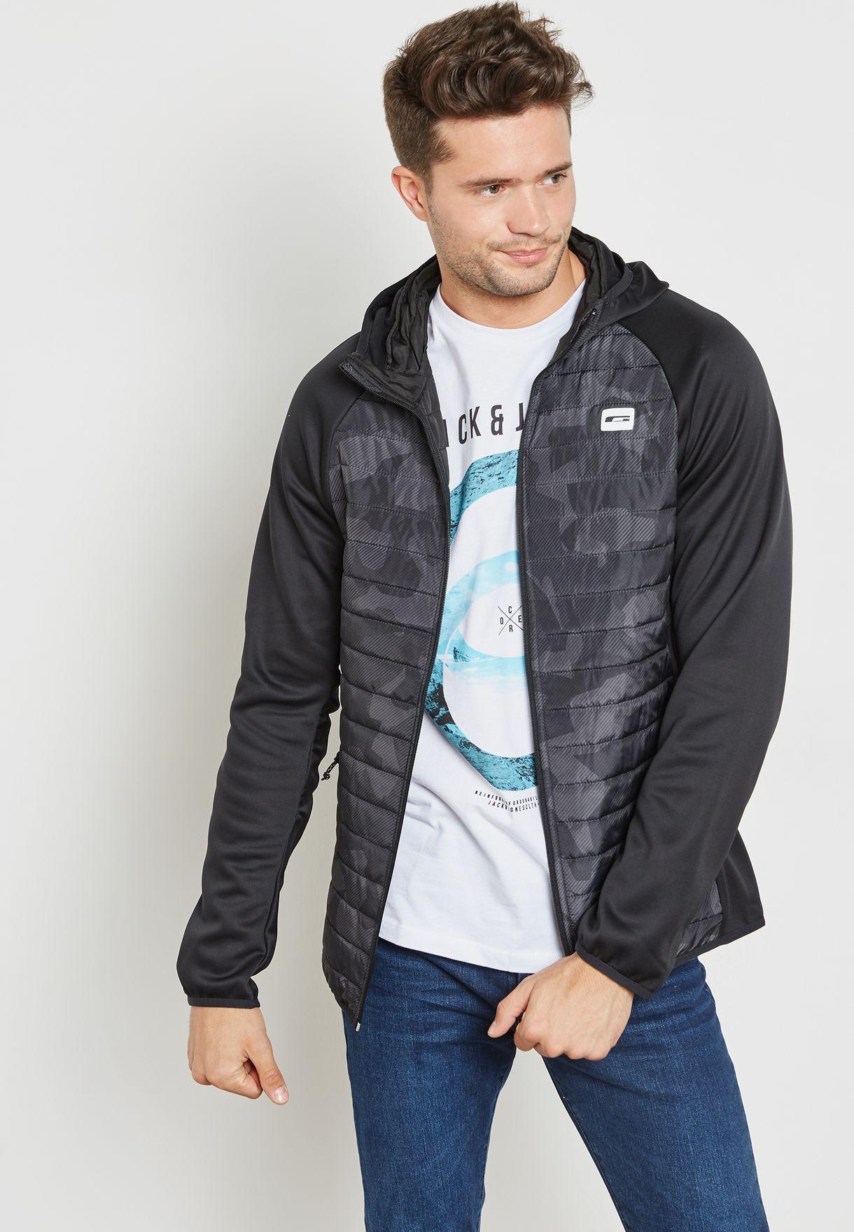 Camo Print Hoodied Jacket