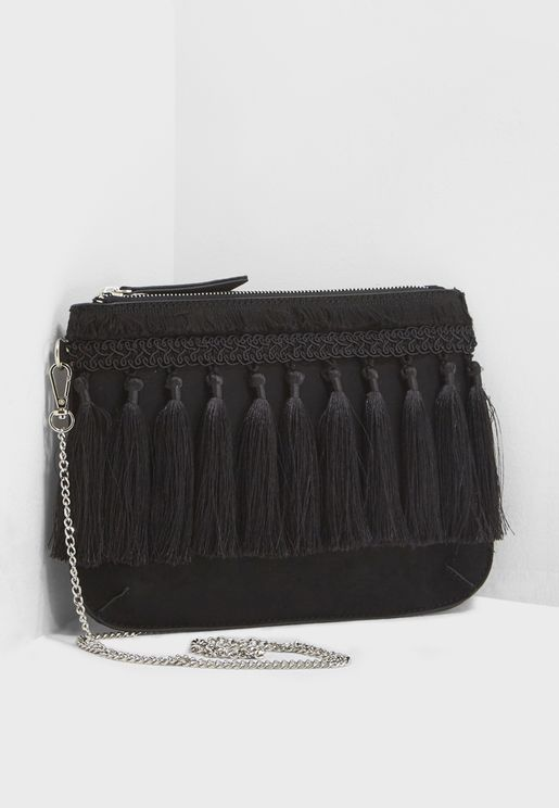 Tiffany Tassel Clutch