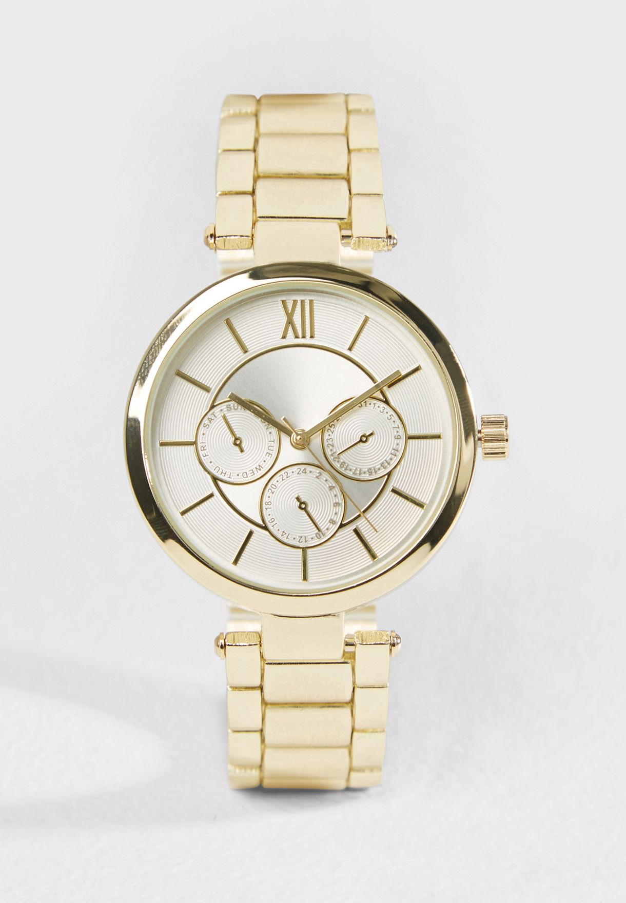 Gold Analogue Watch