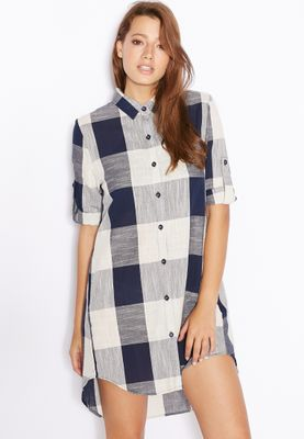 Ginger Checked Shirt Dress