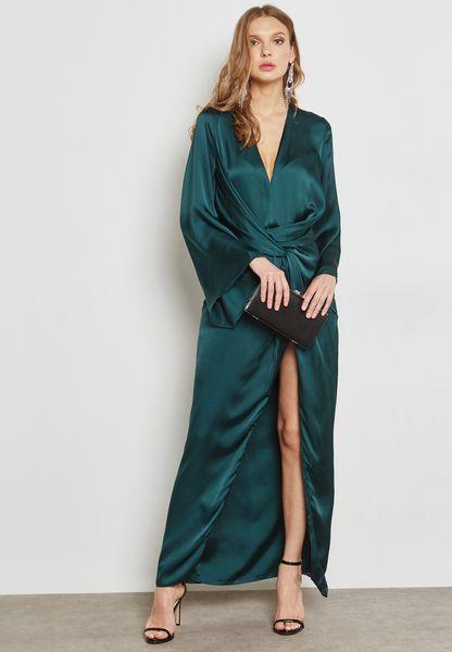 Front Twist Maxi Dress