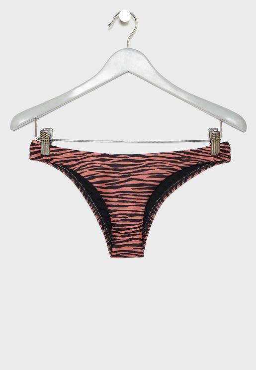 Zebra Print Bikini Bottom