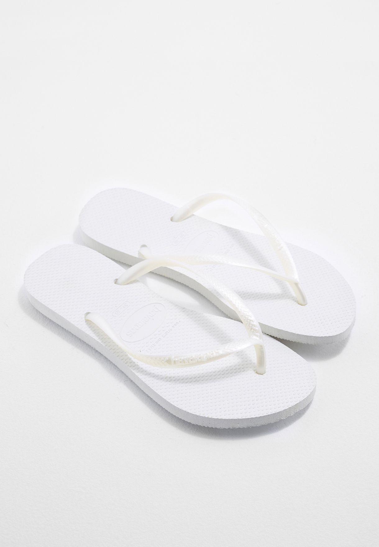 823b545220babc Shop Havaianas white Hav Slim Flip Flops 4000030 for Women in UAE ...