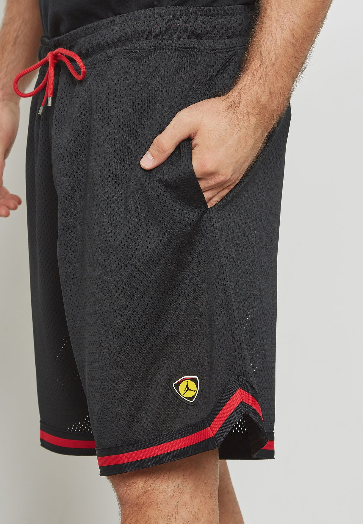 e95da442590 Shop Nike black Jordan Last Shot Mesh Shorts AQ0624-010 for Men in ...