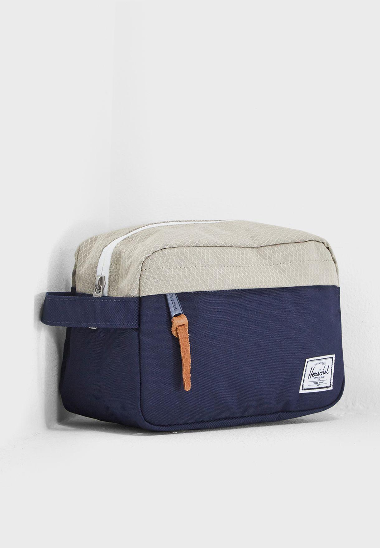 78ec7b02daf3 Shop Herschel navy Chapter Toiletry Bag 10039-02146-OS for Men in ...