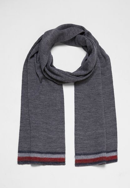 Knitted Corporate Stripe Edge Scarf
