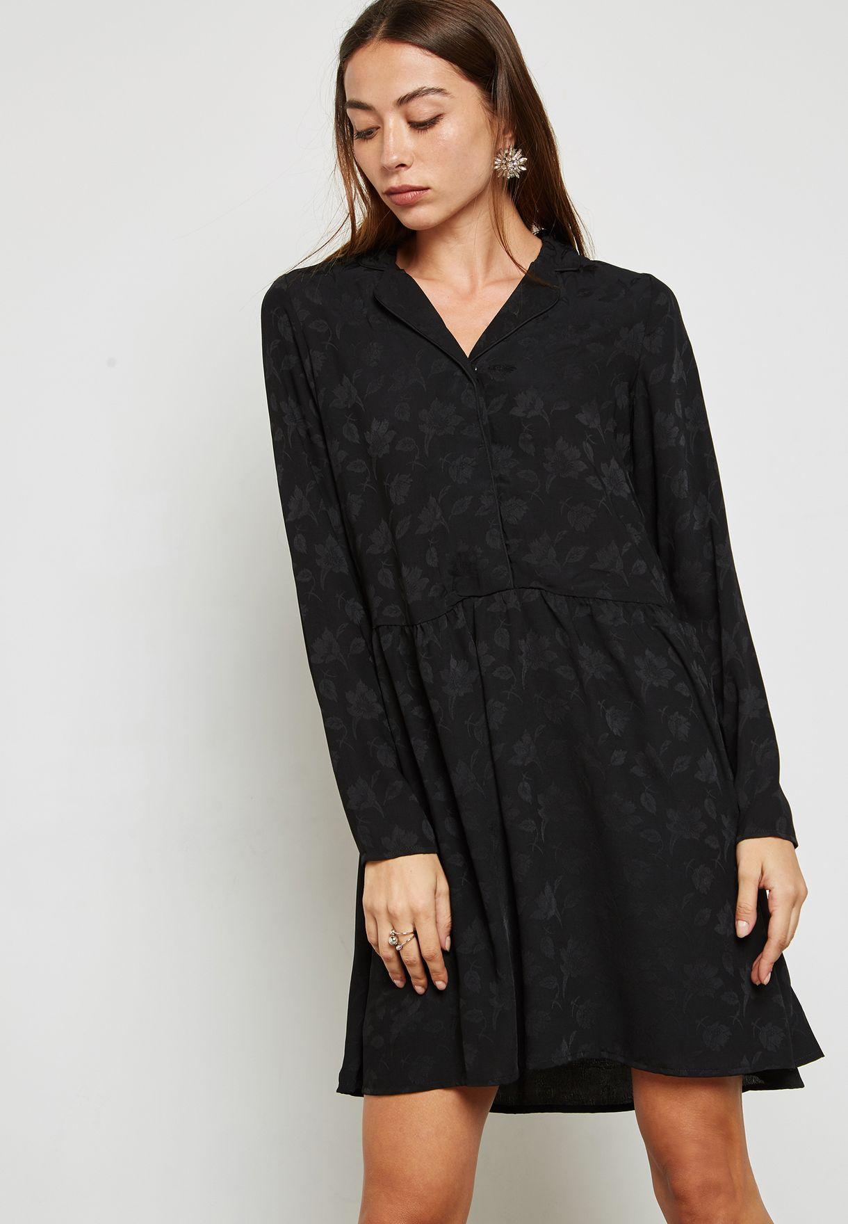 f74bb6fde4f6c Shop Vero Moda black Shirt Mini Dress 10188839 for Women in Qatar ...