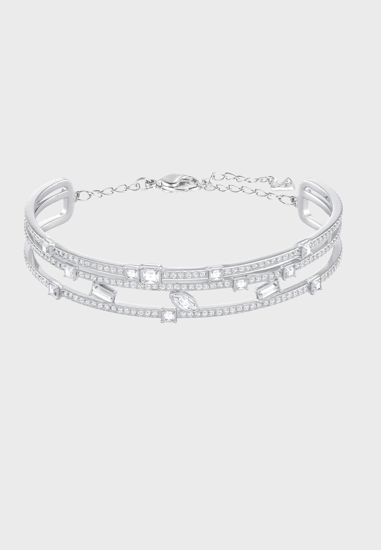 ddeed8ba956 Shop Swarovski silver Henrietta Bracelet 5351319 for Women in Qatar ...