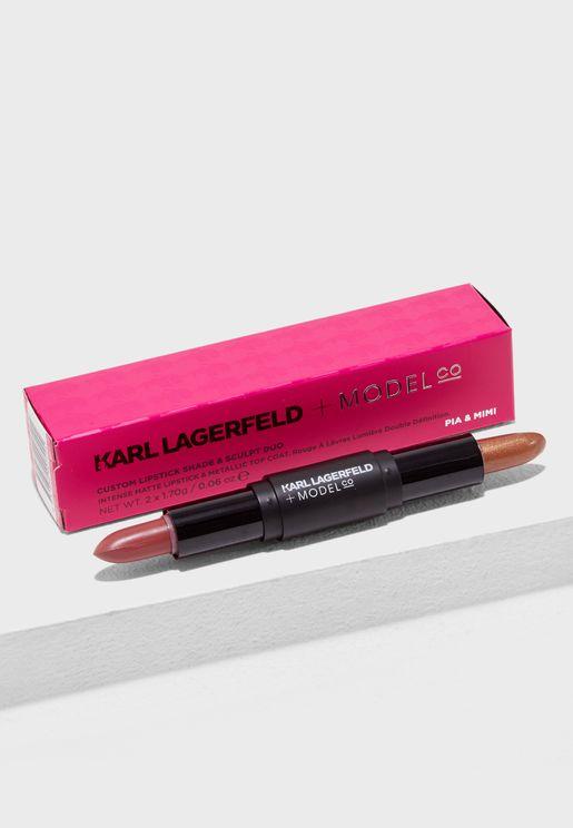 Custom Lipstick Shade & Sculpt Duo - PIA & MIMI