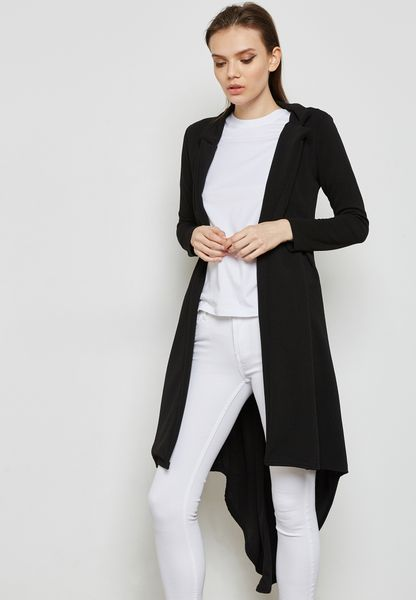 Dip Hem Longline Jacket