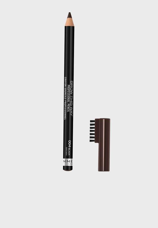 Professional Eyebrow Pencil- 004 Black Brown