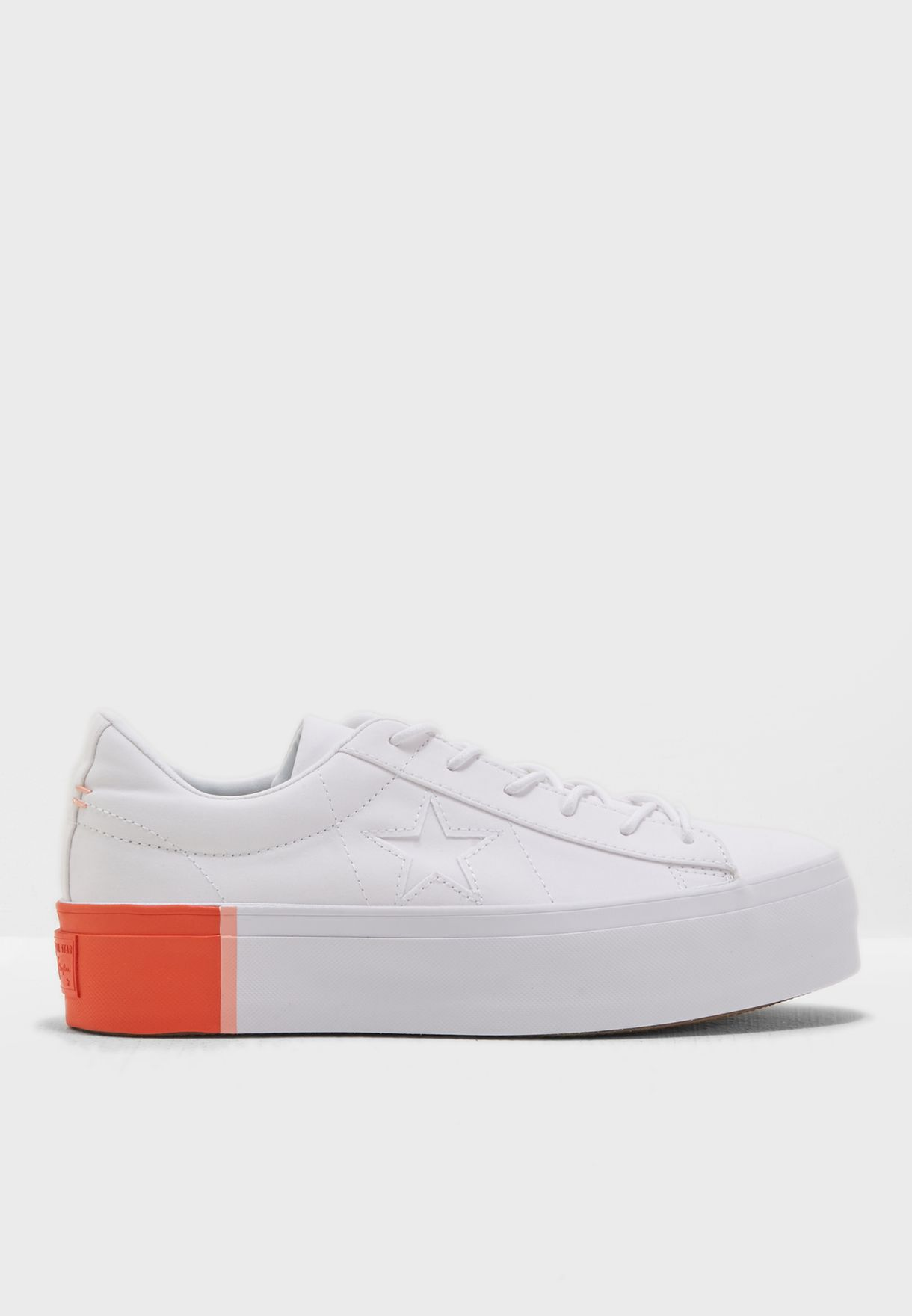 Shop Converse white One Star Platform 559904C-102 for Women in Saudi -  CO049SH59YDS f04bc299a2