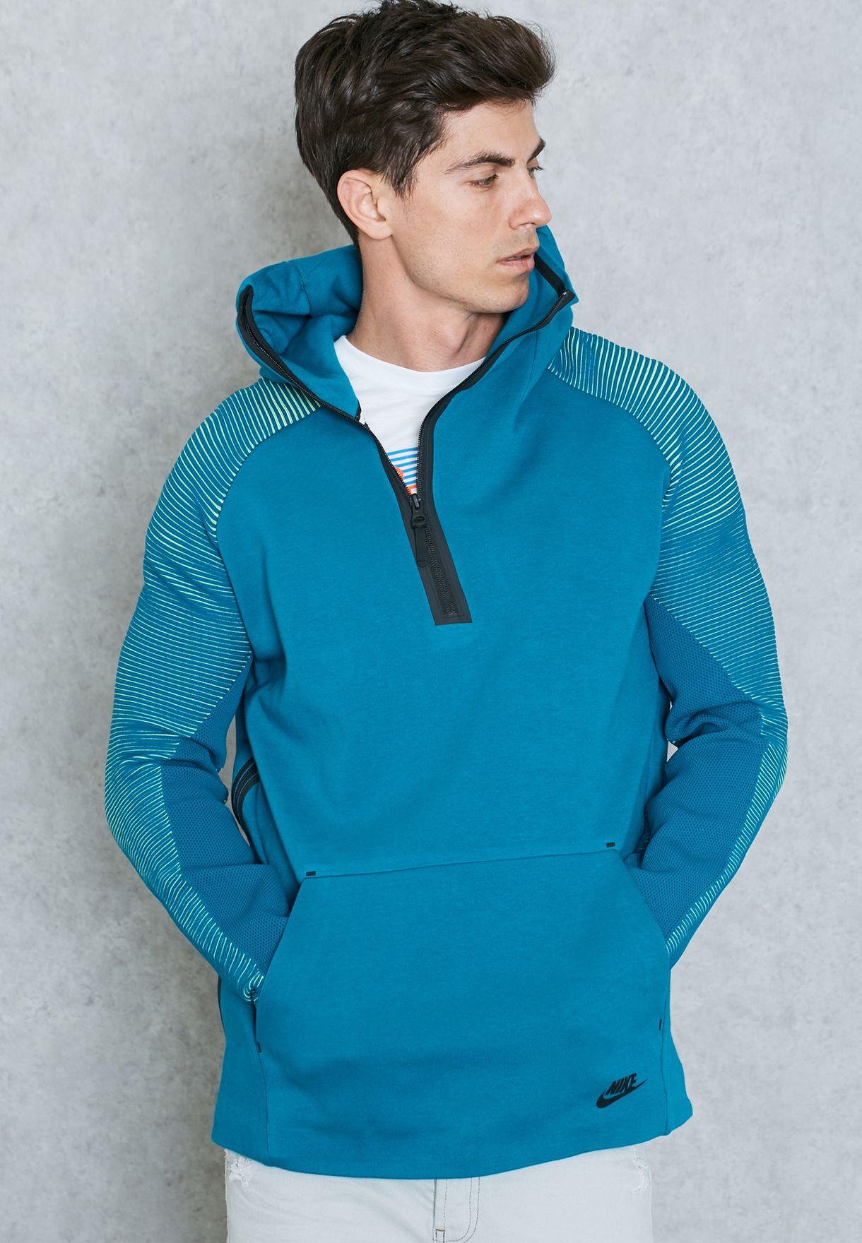 Size Xl 805655 301 /<New/> Nike Sportswear Tech Fleece Half-Zip Hoodie