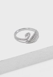 628a8bee3 Shop Swarovski silver Large Iconic Swan Motif Ring 5250744 for Women in UAE  - SW493AC59IQU