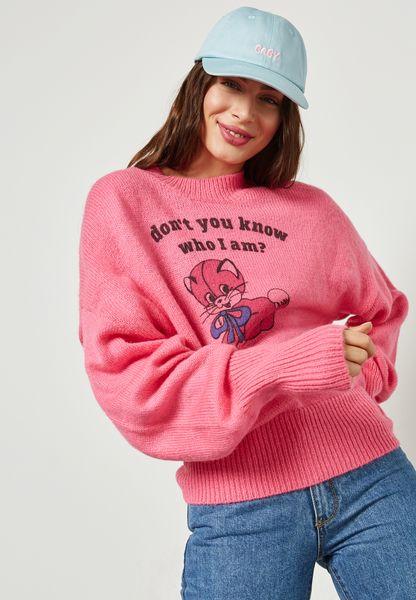 Slogan Swetshirt