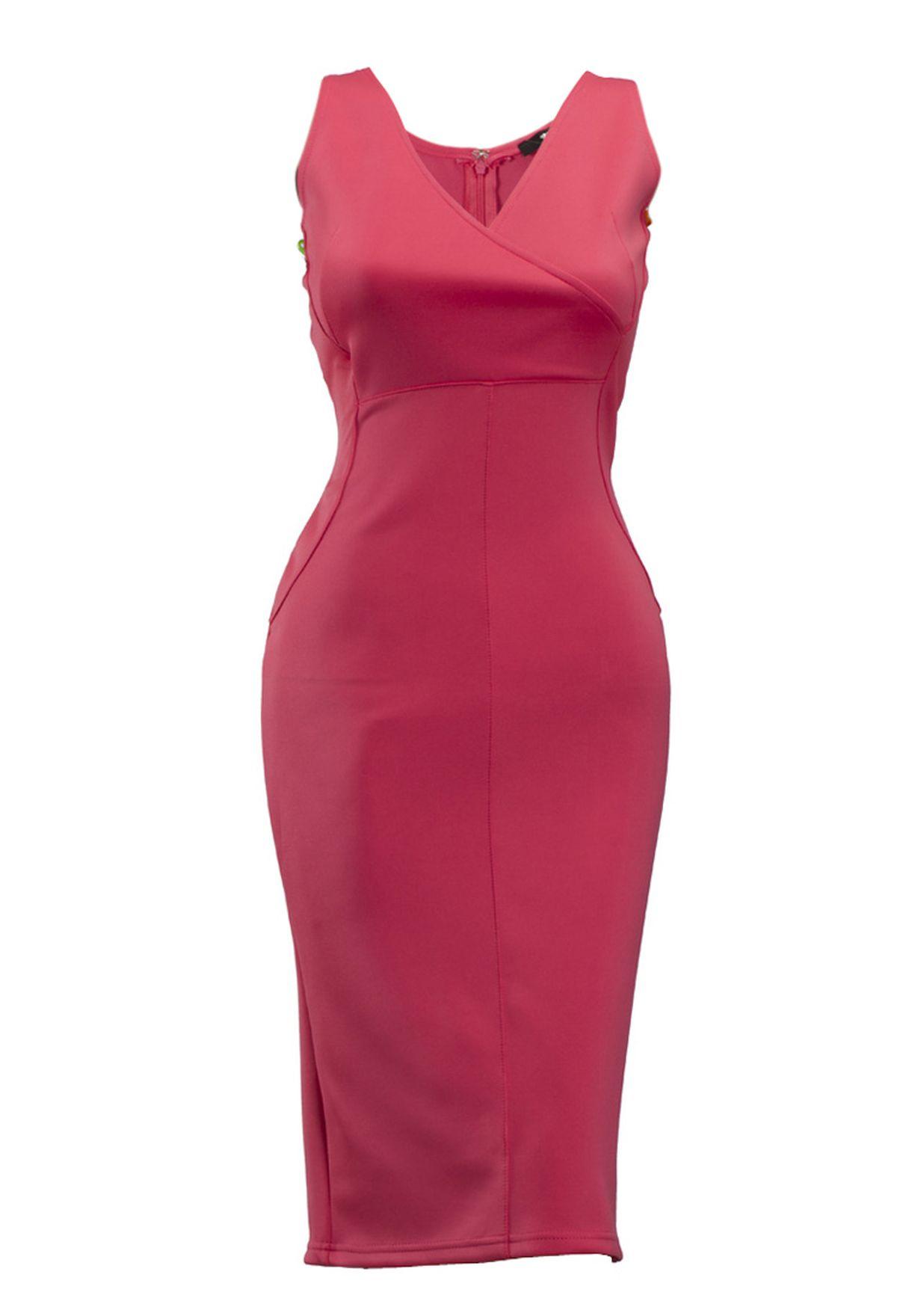 4b2a22ffef1 Shop Tfnc orange Tfnc Calvin Scuba Dress for Women in Bahrain - TF829AT59AOA
