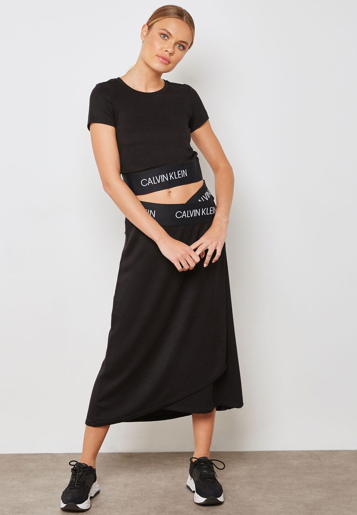 Logo Waist Wrap Skirt
